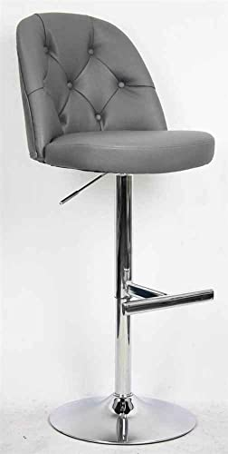 Whalen Furniture Gas Lift Stool in Gray Finish