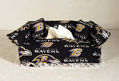 Paper Ravens Baltimore (Baltimore Ravens NFL Licensed fabric tissue box cover.)