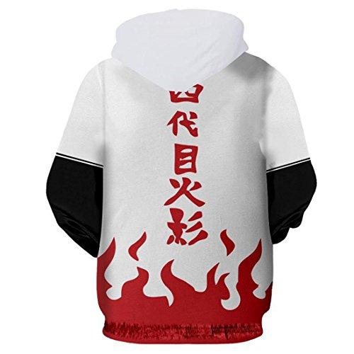 Glissière Kakashi Blouson Blanc Pleine Capuche Aviateur Naruto Jacket À Hommes Chenma Varsity Longueur EqwxRYqSU