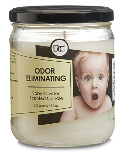 Dianne's Custom Candles Scented Odor Eliminating Fragranced Candle 12 Ounce (Baby Powder) ()