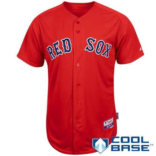 promo code 990ce bd4d7 Buy MLB Men's Boston Red Sox Six Button Cool Base Authentic ...