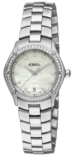 Ebel Classic Sport Stainless Steel & Diamond Womens Watch Date 9953Q24/99450