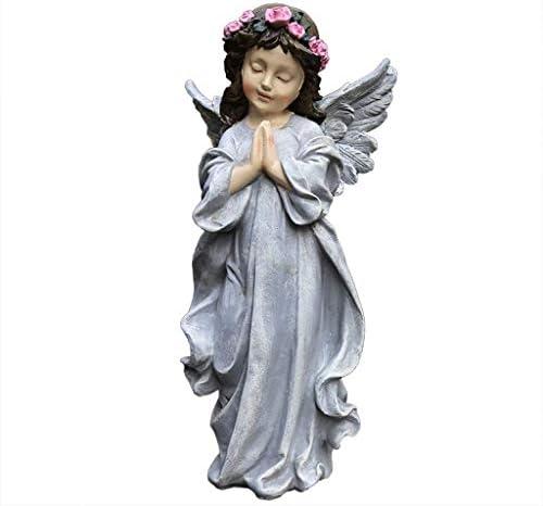 屋内噴水風水装飾庭の庭庭屋外庭アメリカの国小さな庭庭樹脂天使の庭と庭動物像
