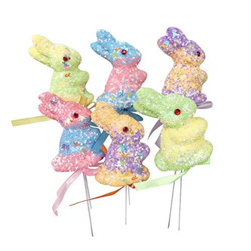 unny Foam Picks Ornaments Easter Crafts Decorations ()