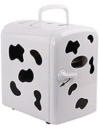 SL&BX Cows refrigerator, 4l mini fridge car refrigerator dual refrigerator student refrigerator for home,Office, Car or boat -E
