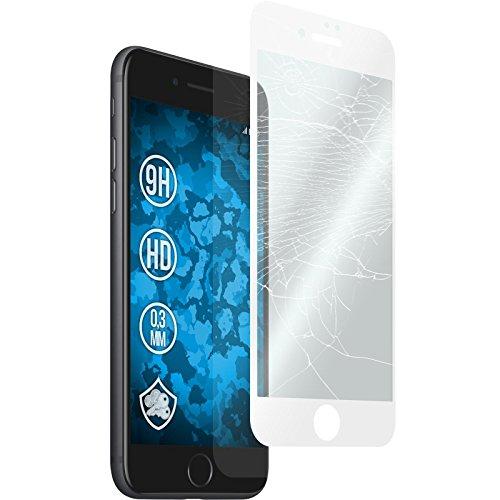 1 x Apple iPhone 7 / 8 Pellicola Protettiva Vetro Temperato chiaro full screen bianco - PhoneNatic Pellicole Protettive