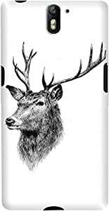 DailyObjects Deer Sketch Case For OnePlus One
