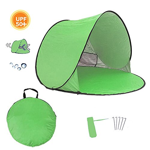 """Homboon Automatic Beach Tent, Pop-up Instant Sun Shelter Portable Cabana with Carry Bag Outdoor Anti-Uv Canopy Lightweight Foldable Shade Tent for Camping Fishing Hiking Picnic,59×59×35.4"""""""