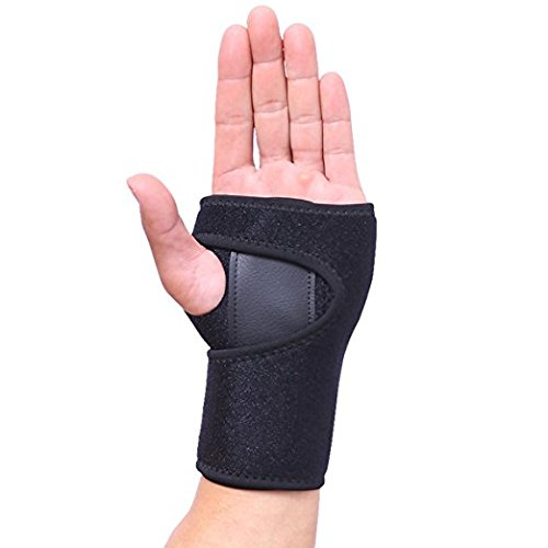 Hand Wrist Wraps Support for Men and Women Removable Splint Martial Arts by AOLIKES,Tennis,Bike,and Motorcycle,Prevention Wrist Injury,Carpal Tunnel Wrist Brace (Left Wrist (Removable Splint)
