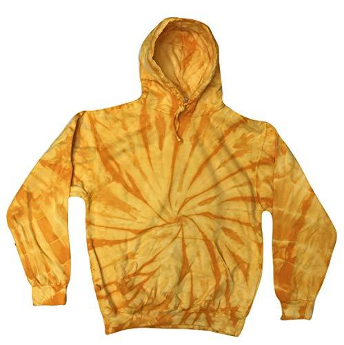 Tie Dye Gold (Colortone Tie Dye Hoodie MD Spider Gold)