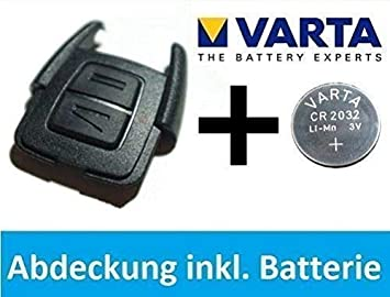 OPEL ASTRA G / Zafira A Llave CUBIERTA CARCASA + VARTA CR2032 batería Kit