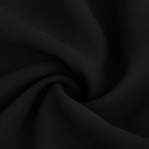 lche dcontract soie mode Chemisier Noir Blouse longues page Femmes de Tefamore la manches de haut de en mousseline wAnRq
