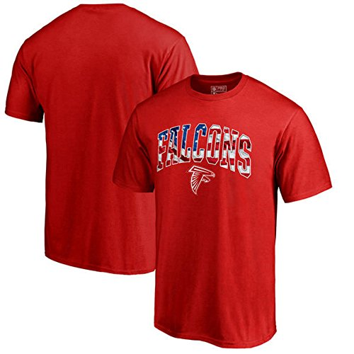 Fanatics Branded Atlanta Falcons Pro Line by Banner Wave T-Shirt - Red (Large)