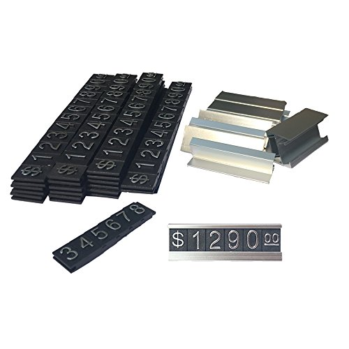 Do4U Counter Stand Label Tag Metal Arabic Price Tag Adjustable Sale Price Display Stand For Retail Shop 12 Sets (Silver) by Do4U