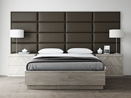 Lowest Prices! VANT Upholstered Headboards - Accent Wall Panels - Packs Of 4 - Vintage Leather Saddl...