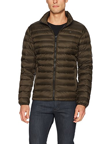 Calvin Klein Men's Packable Down Jacket, camouflage, Medium