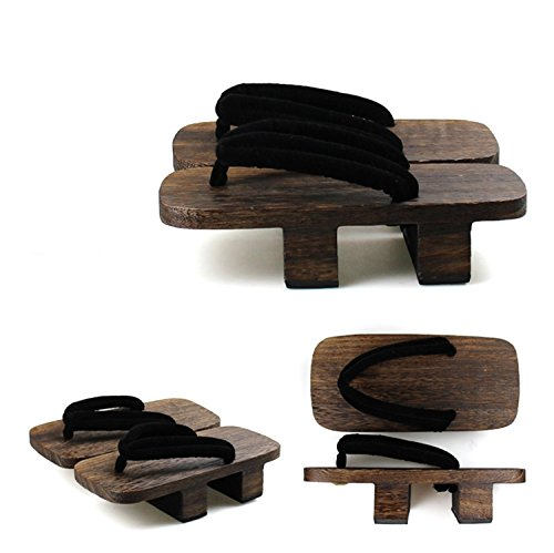 Nuoqi Japanese Clogs Flip Flops Wooden Geta Sandals Cosplay Accessories SEM35A-26 from Nuoqi