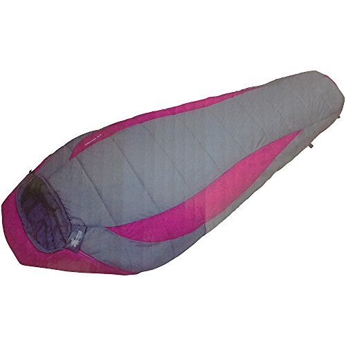 High Peak Outdoors Moose Country Gear Cascade -5 Degree Sleeping Bag, 31'' x 79'' x 21'', Grey by High Peak Outdoors