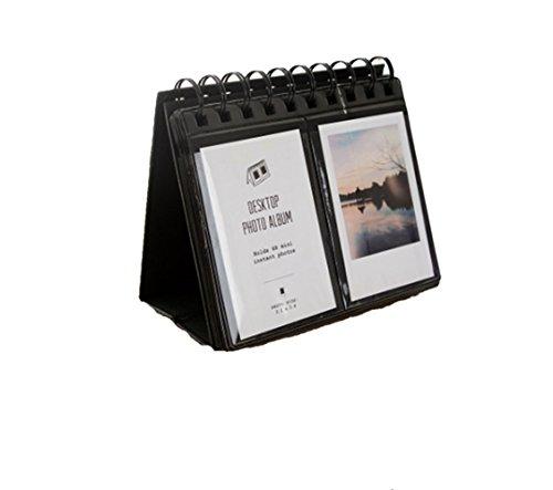 DADA 68 Pockets Mini Photo Album - Desktop Instax Frames Collection for Fujifilm Instax Mini 8 70 7s 25 50s 90 Film/Pringo 231 Film/Fujifilm Instax SP 1 / Polaroid PIC-300P Film (black) by DADA