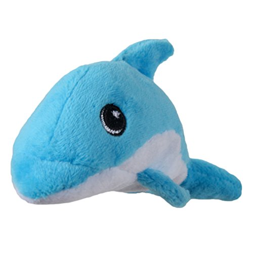 SmartPetLove Tender-Tuffs - Tiny Plush Toys for Puppies and Small Breeds (Blue Dolphin)