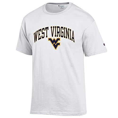(Elite Fan Shop WVU West Virginia Mountaineers Tshirt Varsity White - XL)