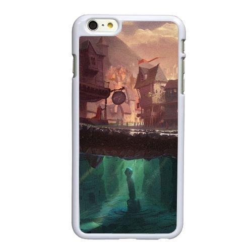 Q7V12 conte K4A3EP coque iPhone 6 Plus de 5,5 pouces cas de couverture de téléphone portable de coque de l 'barde HW5VJB6ZS blancs