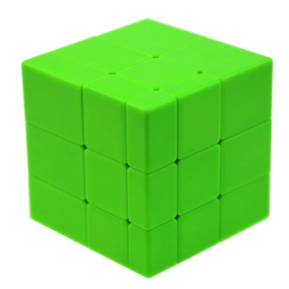 JIAAE Puzzle Rubik's Cube Non-Sticker Solid Color Smooth 3X3 Mirror Surface Rubik Children Competition Toy,Green
