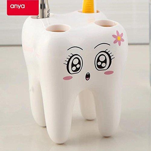 (Clearance Sale!DEESEE(TM)Dental Toothbrush Holder Lovely Cartoon Toothbrush Holder Sanitary Ware Dental)