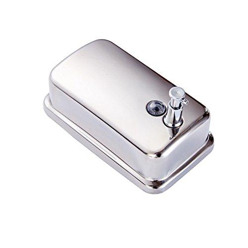 DULPLAY Stainless Steel Manual Soap Dispenser,Wall Mount Hotel Home Bathroom Detergent Bottle Gel Shower Box Shampoo Box -800ML 18.3x10.7cm(7x4inch)
