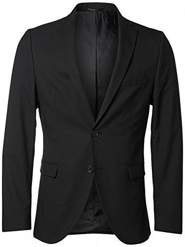 SELECTED - Giacca blazer uomo slim fit new one mylologan 16051232 56 (xxxl) nero