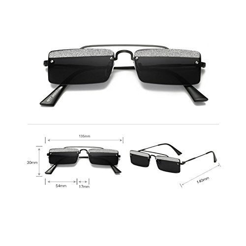 Mujer Estilo Blackgray Z Marea Marco Accesorios Cejas Diseñador Ropa De De Gafas Gray Gafas UV Cuadrado De Pequeño De Sol Protección amp;HA xUrqAUwX