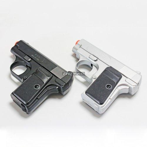 BBTac Airsoft Pistol Twin Pack - 110 FPS Spring Pocket Airsoft Gun with Storage Case, ()