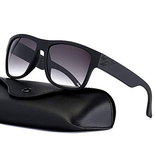 Sport Sunglasses for Men Women Floating Sunglasses for Driving Fishing Surfing Boating Water Sport Nylon Non-polarized Lenses Shades, Matte Black Frame and Gradient Grey Lens (Vanquish Sunglasses)