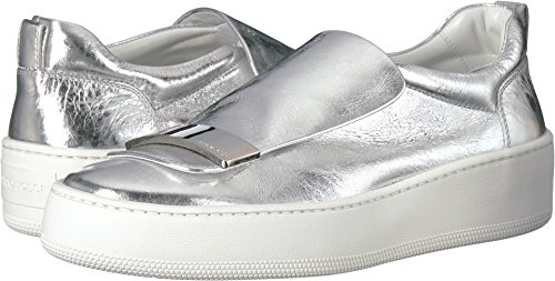 Sergio Rossi Womens A79290-MVIL06 Silver Metallic Leather lveFue