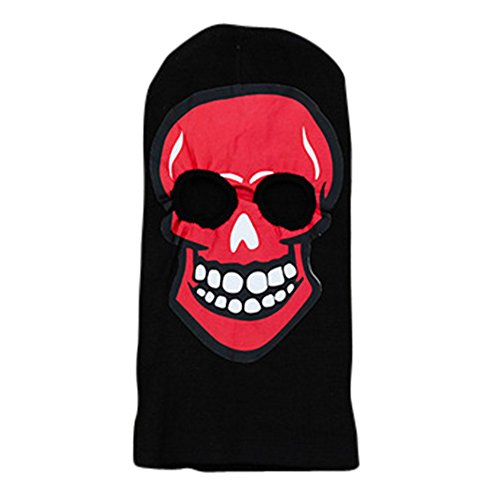 Costumes Dress Tank Bloody (Spooky Boy Girl Ski Face Mask Beanie Costume Halloween Headwear (Red)