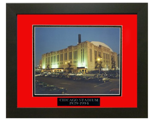 Historic Chicago Stadium 1994, Chicago Blackhawks & Chicago Bulls. Professionally Matted an Framed 8x10 Photo to an 11x14