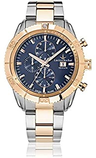 With Watch Rochat Chronograph Quartz Mens Lucien Leather Strap WE9I2HeDYb