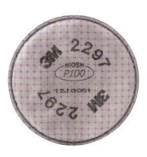 3M 2297 P100 Filter For 5000, 6000, 6500, 7000 And FF-400 Series Respirators (2 Per Bag)