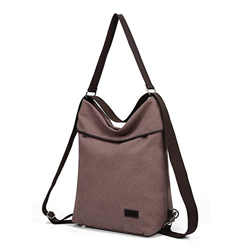 Crossbody Casual Khaki Bag Shoulder Canvas Multifunction Daypack Backpack Women DLMBB Travel Purse wTB4fO40q