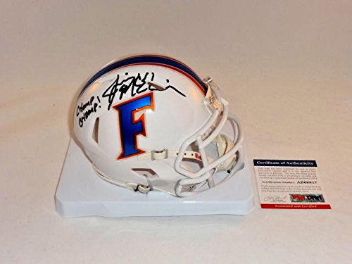 Jim Mcelwain Signed Florida Gators White Alternate Mini Helmet 2 - PSA/DNA Certified - Autographed College Mini Helmets