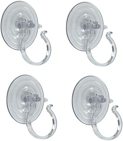 Adams Christmas 5750-88-1040 Giant Suction Wreath Holder – 4 Pack