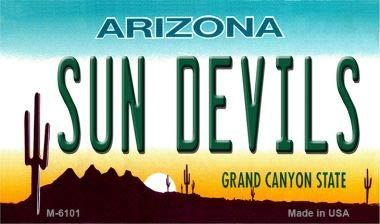 (Sun Devils Arizona State License Plate Magnet M-6101 Mini Licence Plate Magnet)
