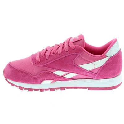 Reebok CL NYLON–�?, Mädchen Sneaker, Pink (Pink/White)