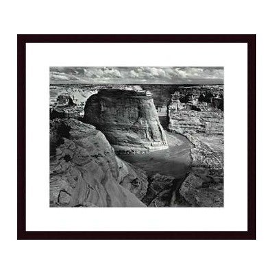 Canyon de Chelly National Monument by Ansel Adams Wood Framed Art Print Matte Color: Black, Frame Color: Beaded Gold Canyon De Chelly National Monument
