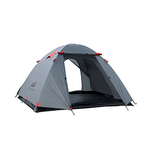 3-Person-Camping-Tent-By-Highland-Peak-FREE-LED-Light-Included-Great-for-Hiking-and-Backpacking-Lightweight-Compact-2-Door-Double-Layer-3-Season-Outdoors-Made-Easy