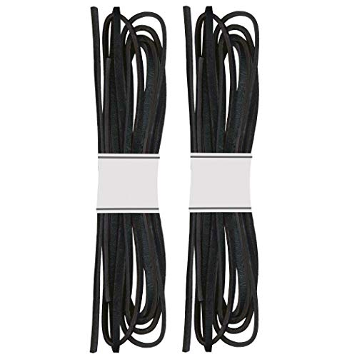 (SafetyCare Genuine Leather Boot & Shoe Laces - Black - 2 pairs)