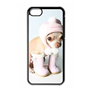 Chihuahua Image On The iPhone 5c Black Cell Phone Case AMW896125