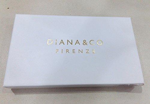 Borsello pochette da polso Diana&Co Firenze donna oro lucido portafogli per cerimonie elegante