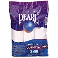 Sea Pearl Cotton Make Up Cosmetics Pads - Pack of 3x80