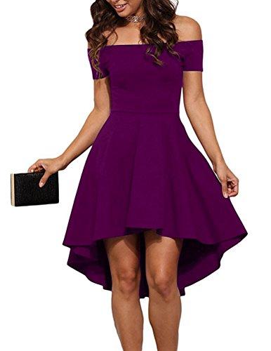 Price comparison product image Skater Dress Adult,  Women Swing Dress Evening 1950 Purple 36